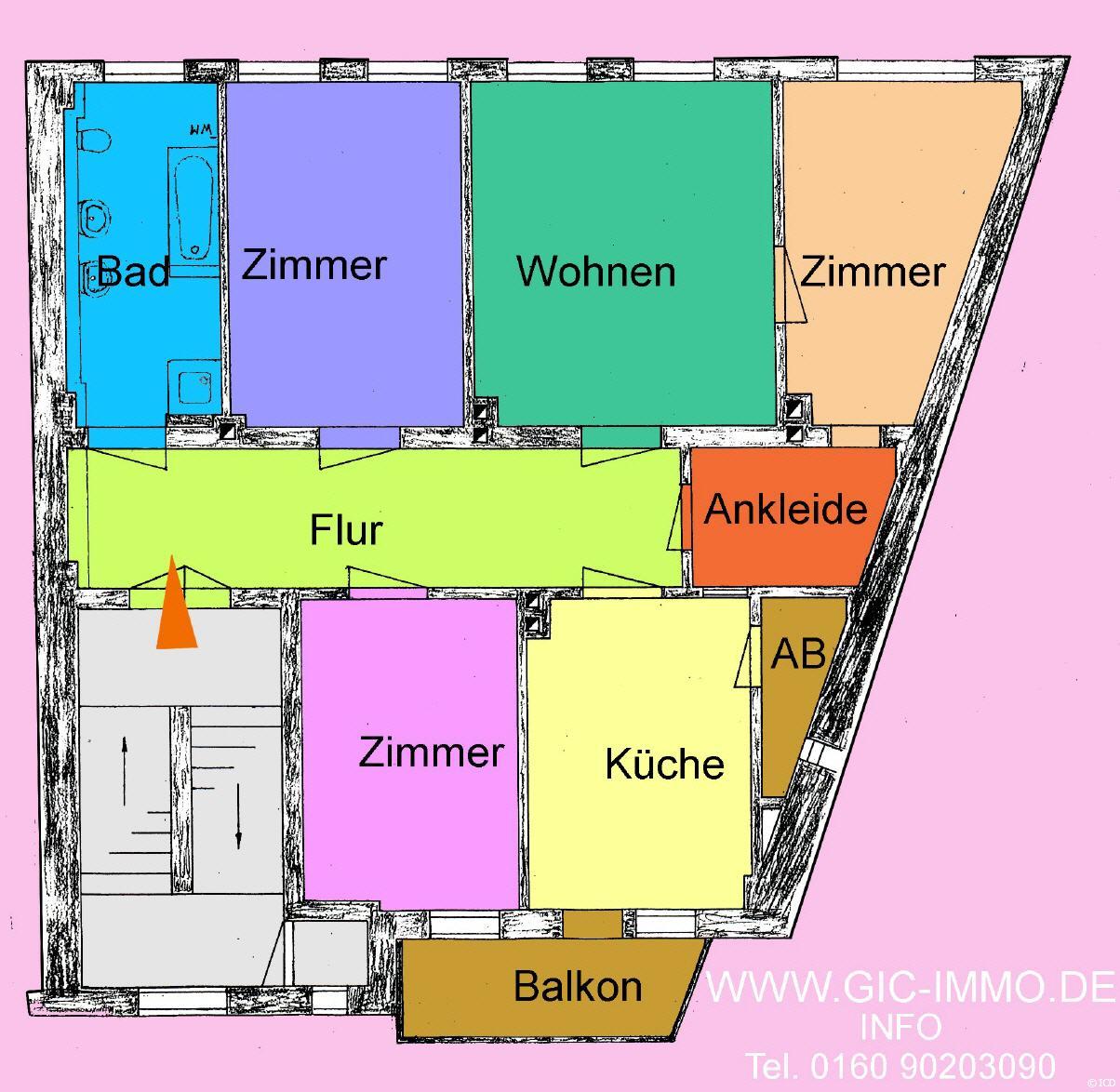 Pirna Zentrum Freundliche 4 Zimmer Wohnung!
